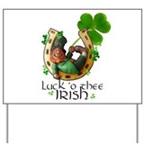 Irish Luck Yard Sign