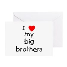 I love big brothers Greeting Cards (Pk of 10)