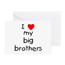 I love big brothers Greeting Card