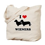 I love my wieners Tote Bag