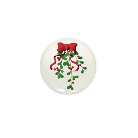 Christmas Mistletoe Mini Button (10 pack)
