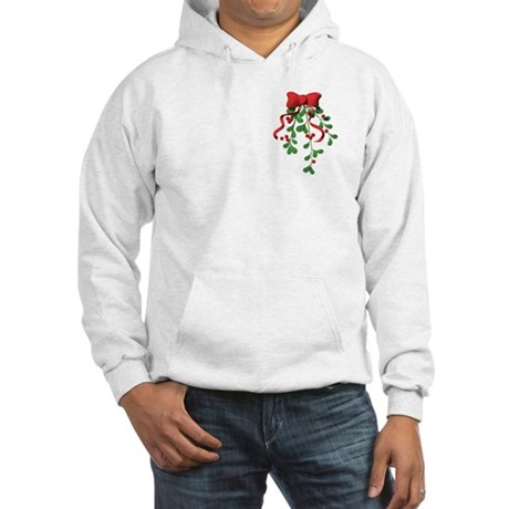 Christmas Mistletoe Hooded Sweatshirt