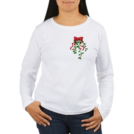 Christmas Mistletoe Women's Long Sleeve T-Shirt