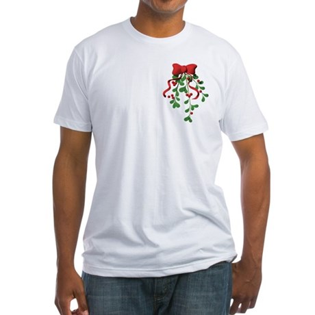 Christmas Mistletoe Fitted T-Shirt