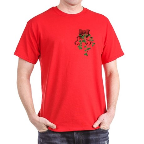 Christmas Mistletoe Dark T-Shirt