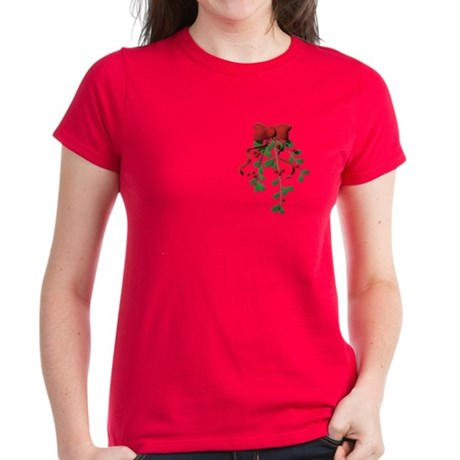 Christmas Mistletoe Women's Dark T-Shirt
