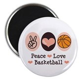 "Peace Love Basketball 2.25"" Magnet (100 pack)"