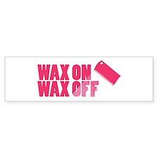 Wax On Wax Off Bumper Bumper Sticker