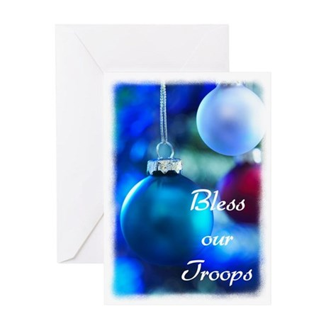 Bless our Troops Greeting Card