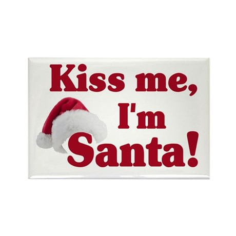 Kiss me I'm Santa Rectangle Magnet (10 pack)
