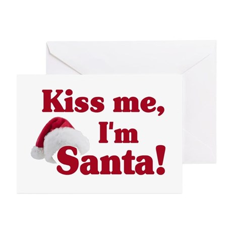 Kiss me I'm Santa Greeting Cards (Pk of 20)