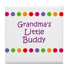 Grandma's Little Buddy Tile Coaster
