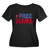 Free Burma 1.1 Women's Plus Size Scoop Neck Dark T