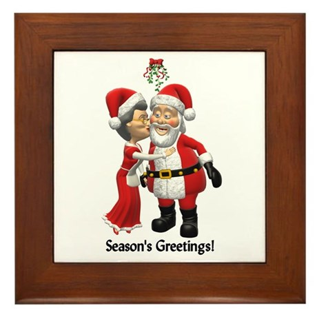 Season's Greetings Framed Tile
