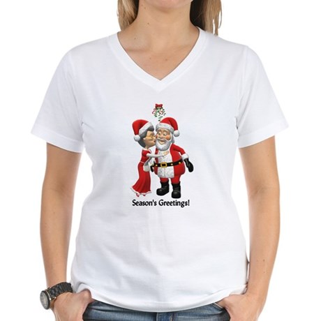 Season's Greetings Women's V-Neck T-Shirt
