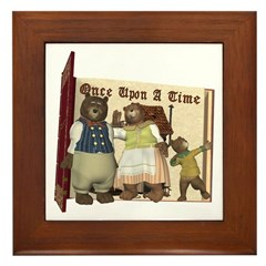 The Three Bears Framed Tile