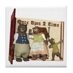 The Three Bears Tile Coaster