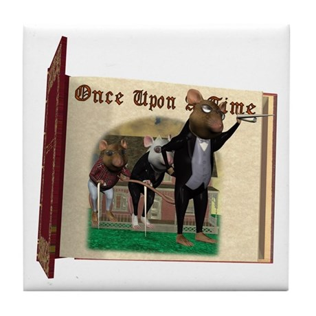 The Three Blind Mice Tile Coaster