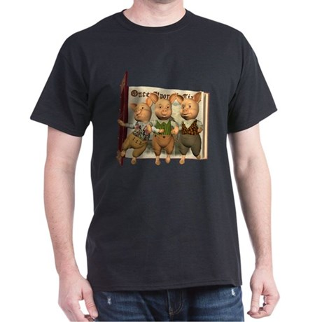 The Three Little Pigs Dark T-Shirt