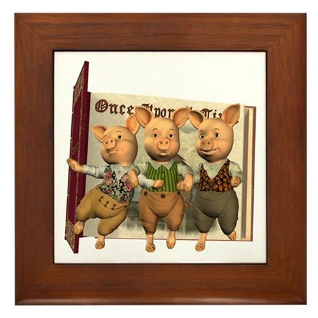 The Three Little Pigs Framed Tile
