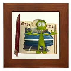 Al Alien Framed Tile