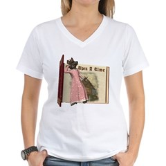 The Big Bad Wolf Women's V-Neck T-Shirt
