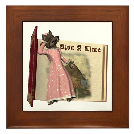 The Big Bad Wolf Framed Tile