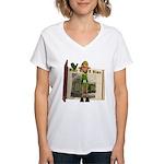 Santa's Elf Women's V-Neck T-Shirt