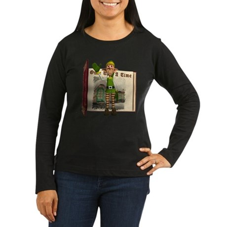 Santa's Elf Women's Long Sleeve Dark T-Shirt