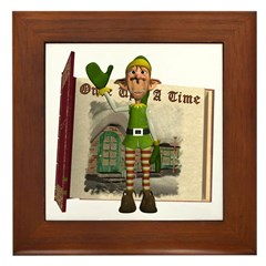 Santa's Elf Framed Tile
