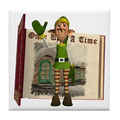 Santa's Elf Tile Coaster