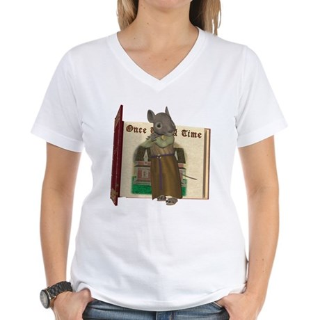 Furry Friends Mouse Women's V-Neck T-Shirt