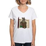 Furry Friends Mouse Women's V-Neck T-Shirt
