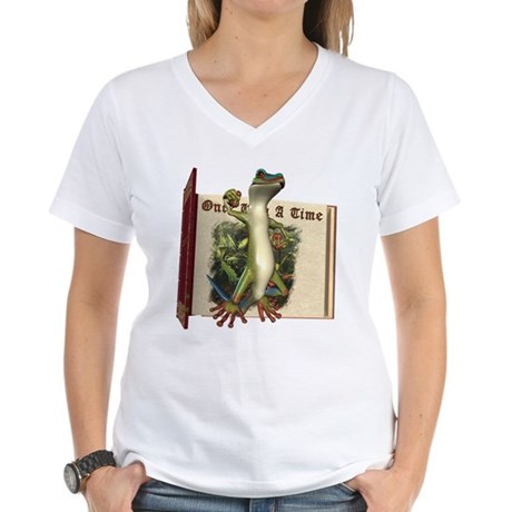 Mr. Gecko Women's V-Neck T-Shirt