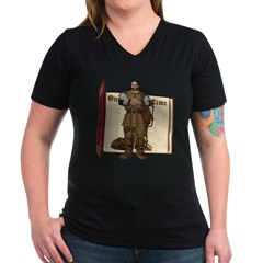 Fairytale Giant Women's V-Neck Dark T-Shirt