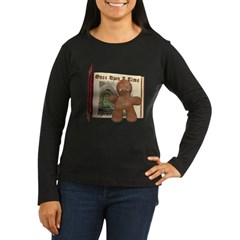 The Gingerbread Man Women's Long Sleeve Dark T-Shi
