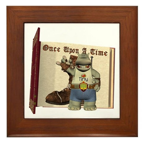 Heath Hippo Framed Tile