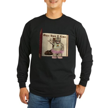 Heather Hippo Long Sleeve Dark T-Shirt