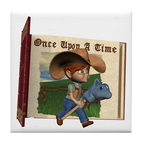 Cowboy Kevin Tile Coaster