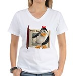 Penny Penguin Women's V-Neck T-Shirt