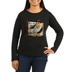 Penny Penguin Women's Long Sleeve Dark T-Shirt