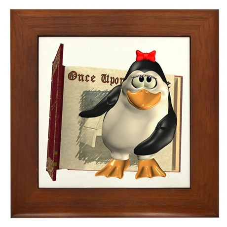 Penny Penguin Framed Tile