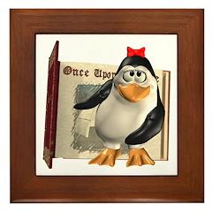 Penny Penguin Framed Tile