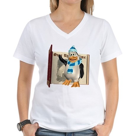 Percy Penguin Women's V-Neck T-Shirt