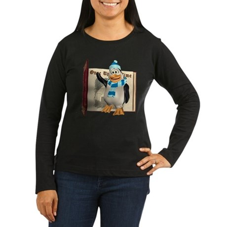 Percy Penguin Women's Long Sleeve Dark T-Shirt