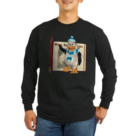 Percy Penguin Long Sleeve Dark T-Shirt