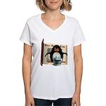 Pongo Penguin Women's V-Neck T-Shirt