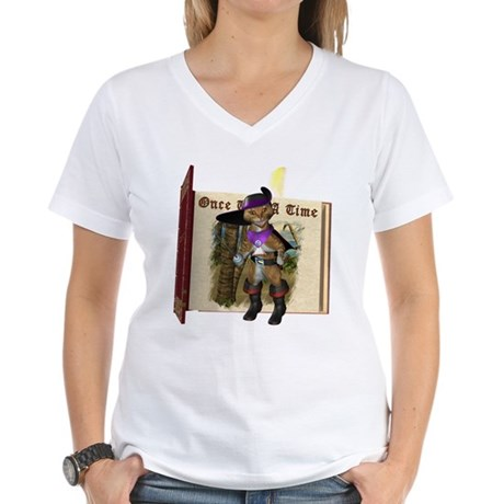 Puss 'N Boots Women's V-Neck T-Shirt