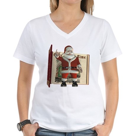 Santa Women's V-Neck T-Shirt