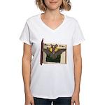Bennie Bat Women's V-Neck T-Shirt